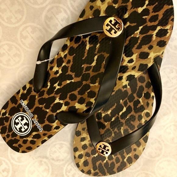 cabf982f1b47 Tory Burch Shoes   Nwt Leopard Animal Print Flipflop8   Poshmark